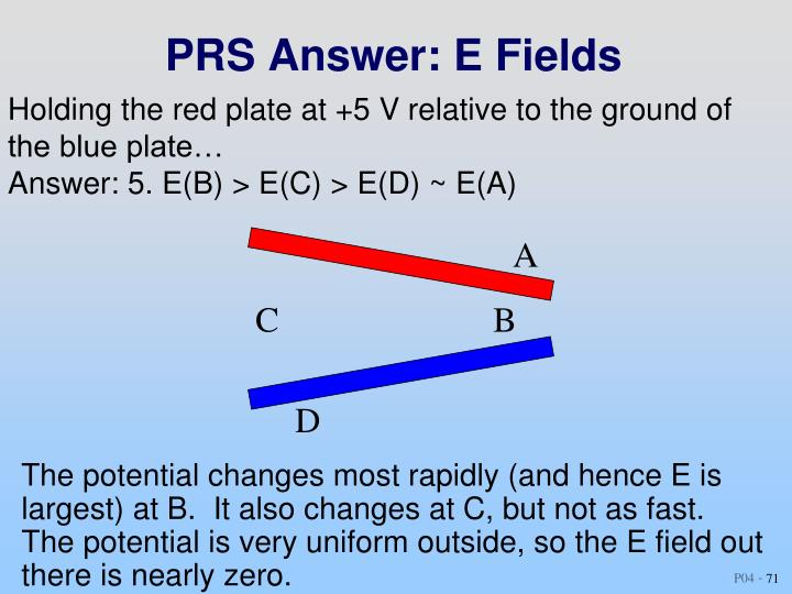 PRS Answer: E Fields