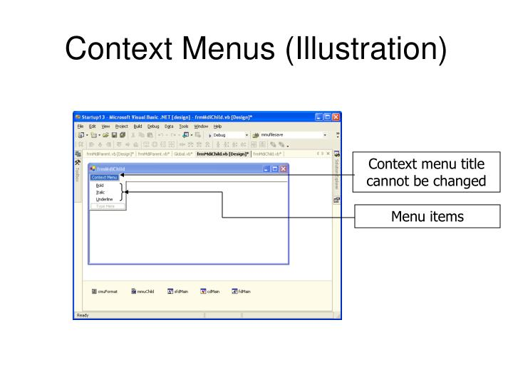 Context Menus (Illustration)