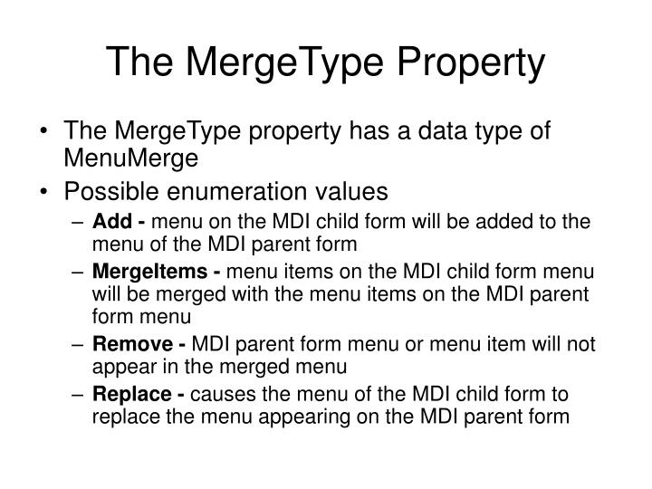 The MergeType Property