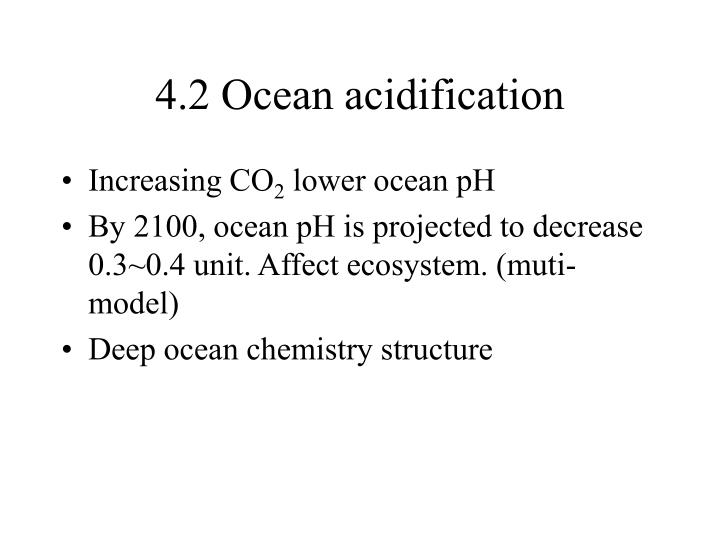 4.2 Ocean acidification