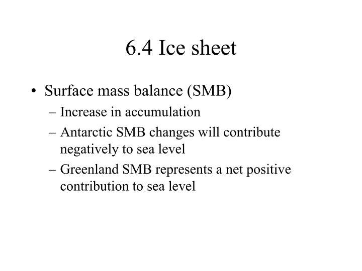 6.4 Ice sheet
