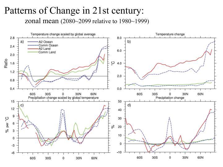 Patterns of Change in 21st century:
