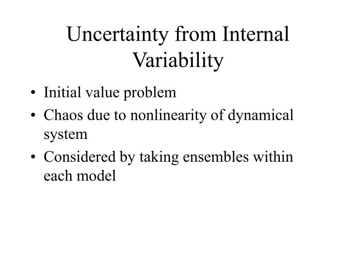 Uncertainty from Internal Variability