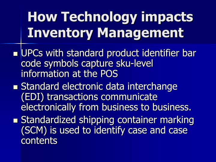 How Technology impacts Inventory Management