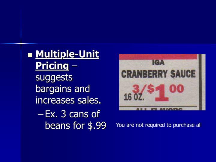 Multiple-Unit Pricing