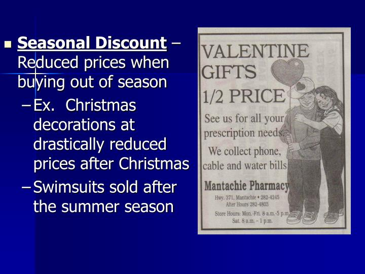 Seasonal Discount