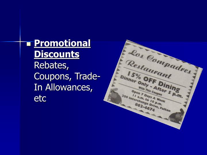 Promotional Discounts