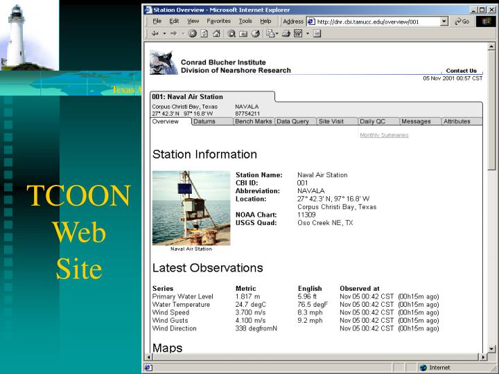 TCOON Web Site