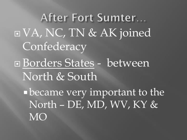 After Fort Sumter