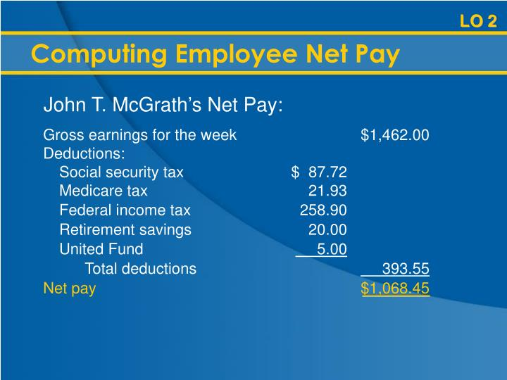 Computing Employee Net Pay