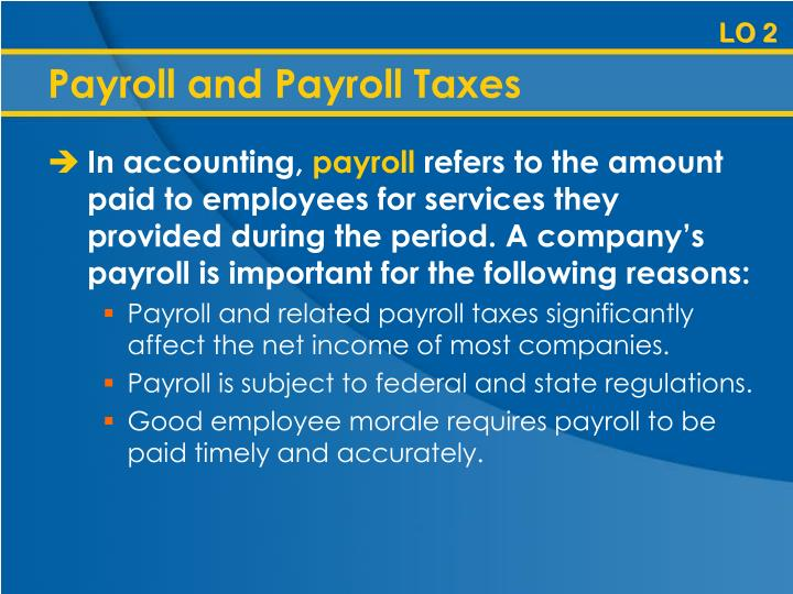 Payroll and Payroll Taxes