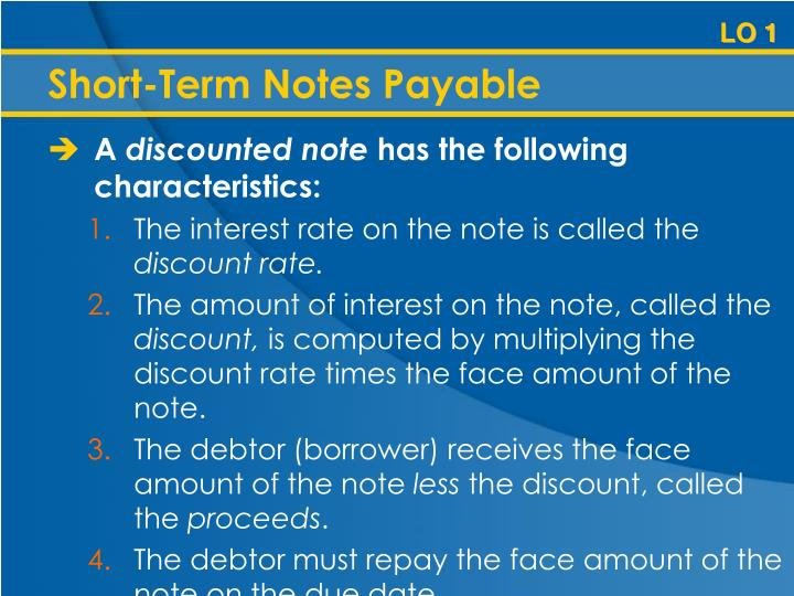 Short-Term Notes Payable