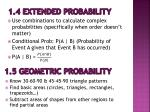 1 4 extended probability