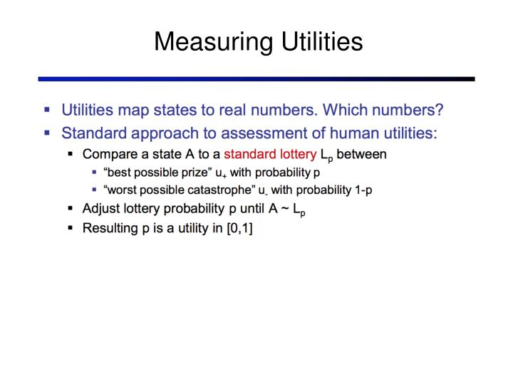 Measuring Utilities