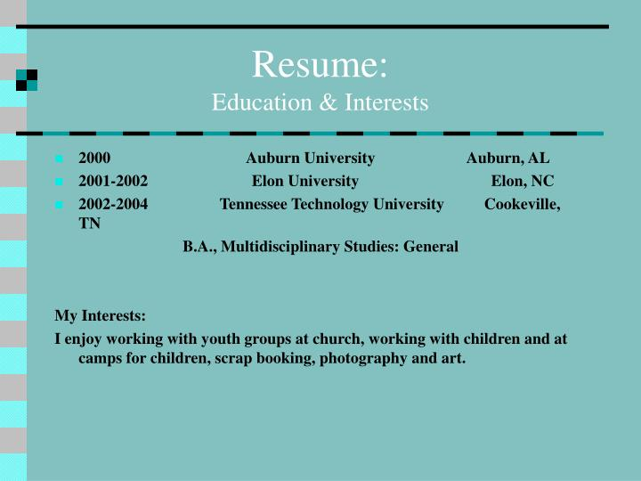 Resume: