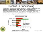 decline in functioning