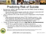predicting risk of suicide1