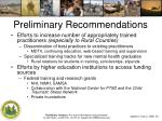 preliminary recommendations1