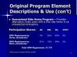 original program element descriptions use con t