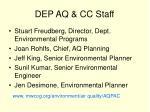 dep aq cc staff