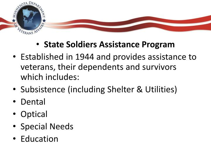 State Soldiers Assistance Program