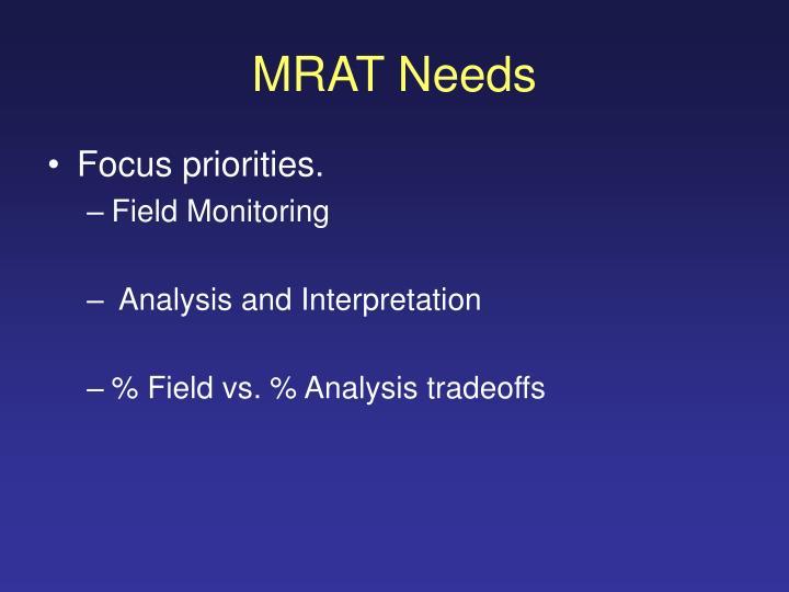 MRAT Needs