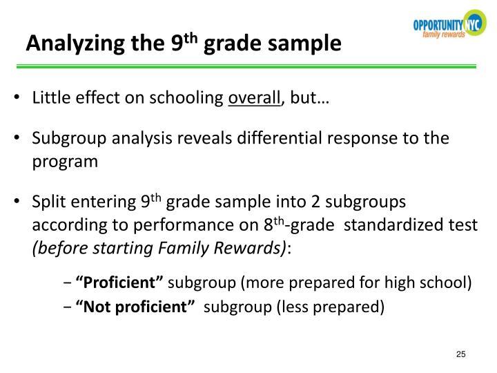 Analyzing the 9