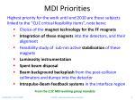 mdi priorities