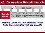a six part agenda for national leadership1
