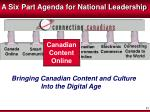 a six part agenda for national leadership3