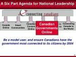 a six part agenda for national leadership4
