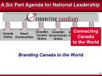 a six part agenda for national leadership6