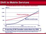 shift to mobile services