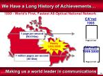 we have a long history of achievements4