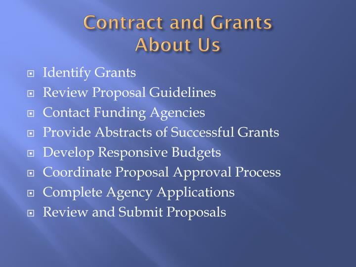 Contract and Grants