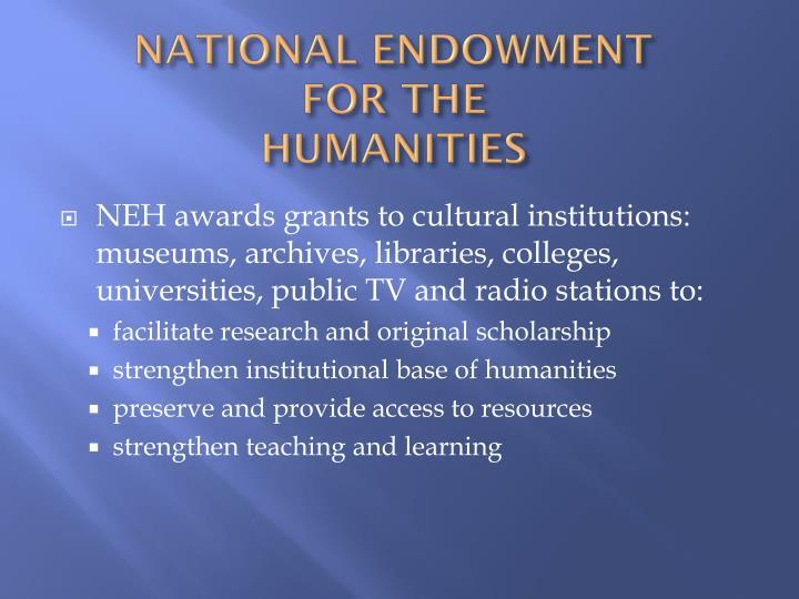 NATIONAL ENDOWMENT