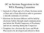 oc on sections suggestions to the wpa planning committee