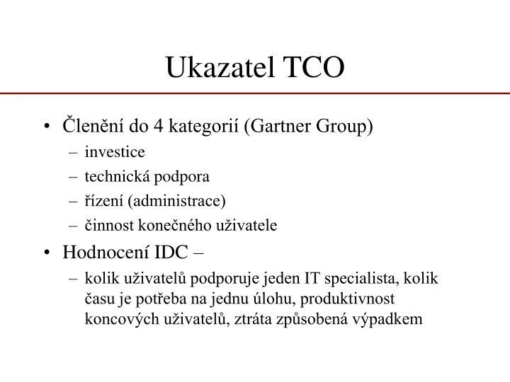 Ukazatel TCO