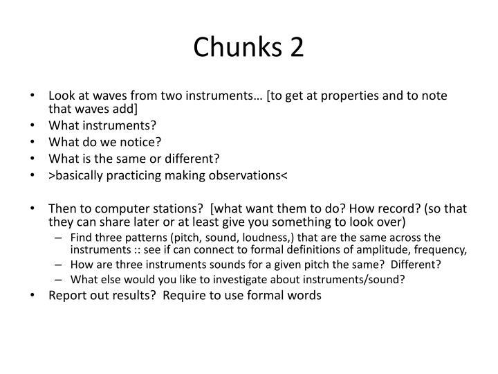 Chunks 2