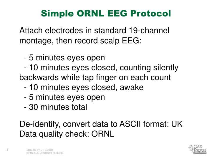 Simple ORNL EEG Protocol
