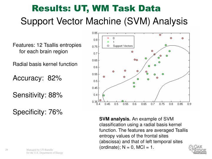 Results: UT, WM Task Data