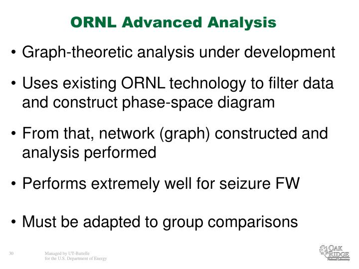 ORNL Advanced Analysis