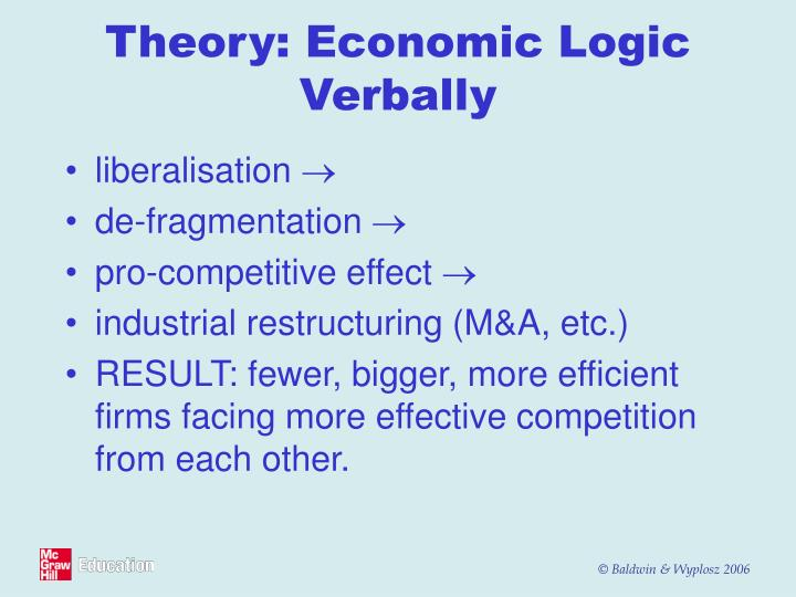 Theory: Economic Logic Verbally