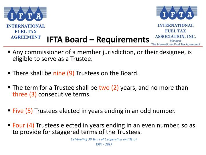 Ifta board requirements