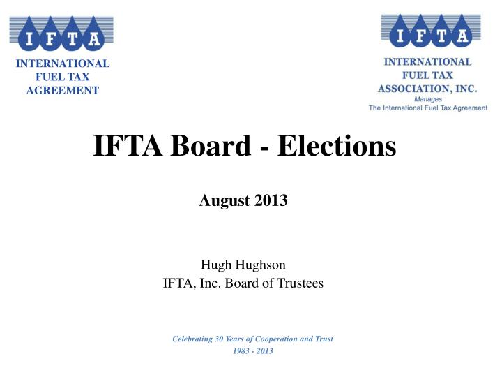 IFTA Board - Elections