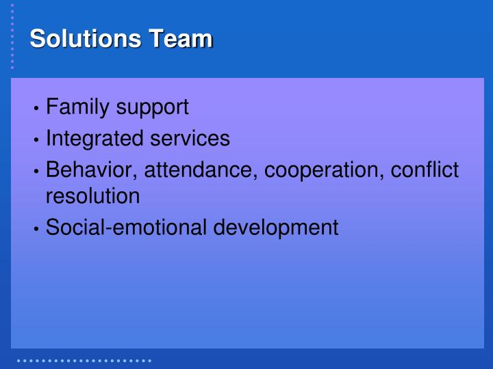 Solutions Team