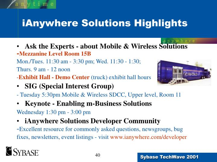 Ask the Experts - about Mobile & Wireless Solutions