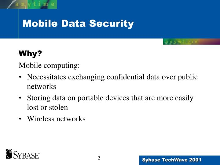 Mobile data security