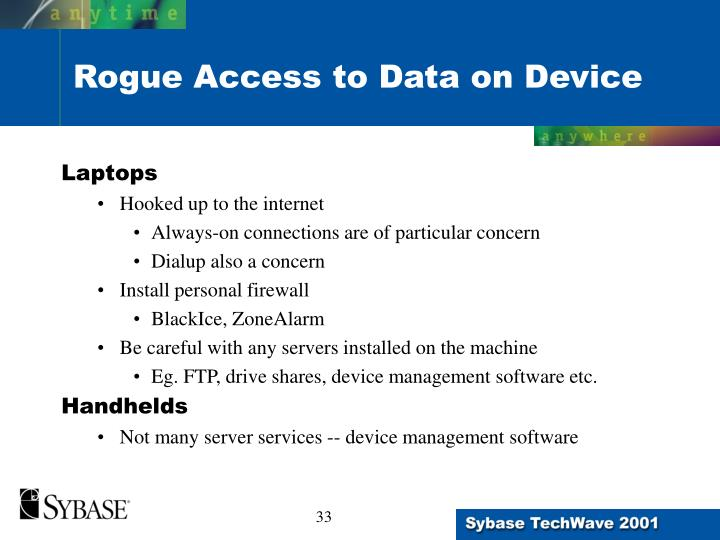 Rogue Access to Data on Device