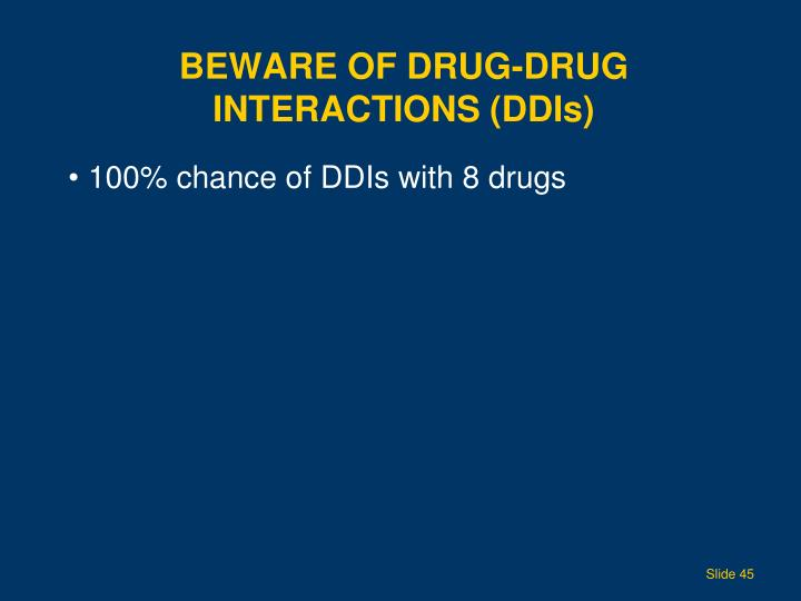 Beware of Drug-Drug Interactions (